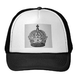 Medieval heraldry crown design trucker hat
