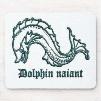 Medieval Heraldry Dolphin naiant Mouse Pad