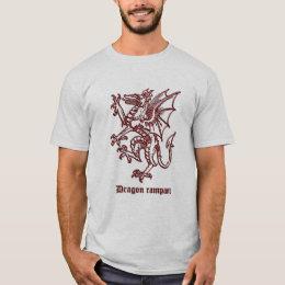 Medieval heraldry Dragon rampant T-Shirt
