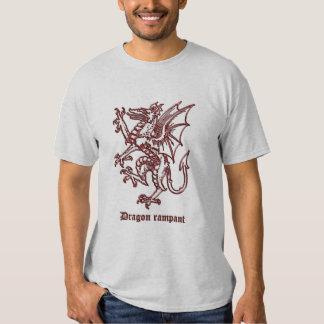 Medieval heraldry Dragon rampant T Shirts