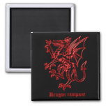 Medieval Heraldry Dragon Refrigerator Magnet