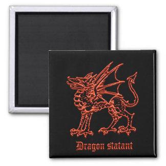 Medieval Heraldry Dragon statant Magnet