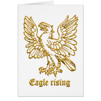 Medieval Heraldry Eagle rising Card