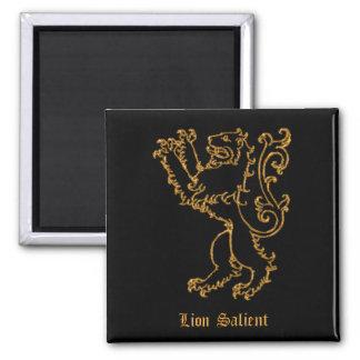 Medieval heraldry - Lion salient Magnet