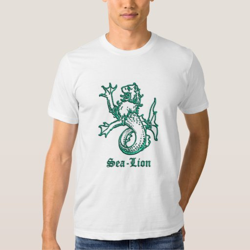 Medieval Heraldry Sea Lion T-shirts