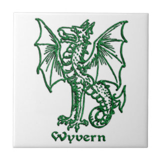 Medieval Heraldry Wyvern Ceramic Tile
