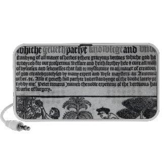 Medieval Herb Garden iPod Speakers