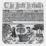 Medieval Herb Garden Square Sticker