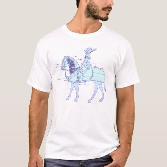 Medieval horseman _blue/purple T-Shirt