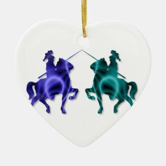 Medieval Horses Ornament