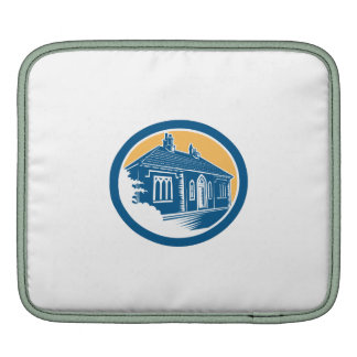 Medieval House Building in Bath Retro Sleeve For iPads