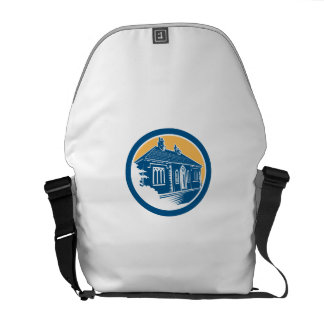 Medieval House Building in Bath Retro Courier Bag