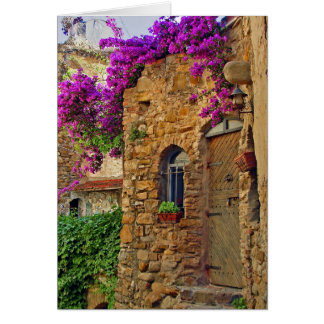 Medieval House in Charming Italy Card