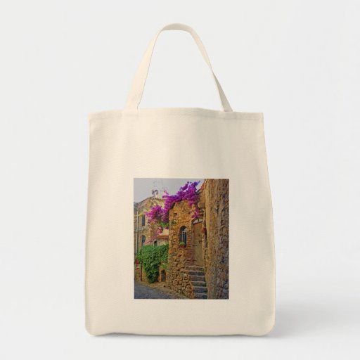 Medieval House in Charming Italy Grocery Tote Bag