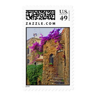 Medieval House in Charming Italy Postage