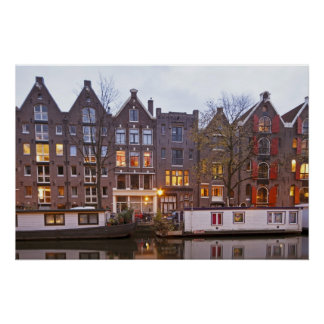 Medieval houses in Amsterdam the Netherlands Poster