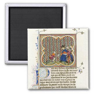 Medieval Illumination St Paul's Epistle 2 Inch Square Magnet