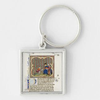 Medieval Illumination St Paul's Epistle Keychain
