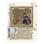 Medieval Illumination St Paul's Epistle Postcard