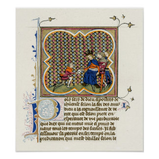Medieval Illumination St Paul's Epistle Posters