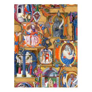 Medieval Illuminations Postcard