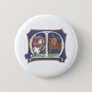Medieval Joust Pinback Button