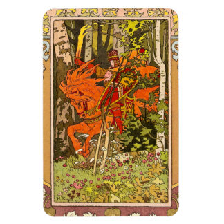 Medieval Knight and Horse Rectangular Magnets