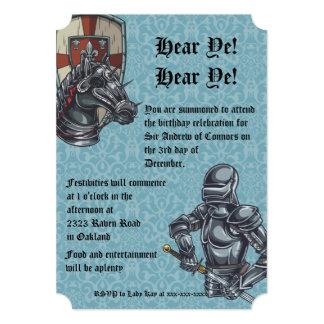 Medieval Knight Birthday Invitation