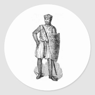 Medieval Knight Classic Round Sticker