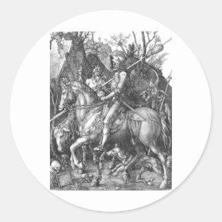 medieval-knight-clip-art-9 pegatina redonda