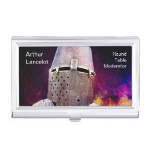 Medieval business card holders cases zazzle medieval knight funny customizable business card holder colourmoves