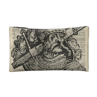 Medieval Knight Illustration On Dictionary Page Cosmetic Bag