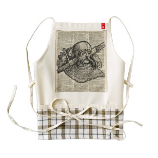 Medieval Knight Illustration On Dictionary Page Zazzle HEART Apron
