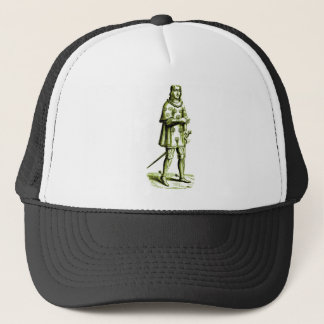 Medieval Knight in Armor Vintage Etching Trucker Hat