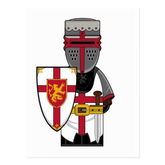 Medieval Knight in Helmet Postcard