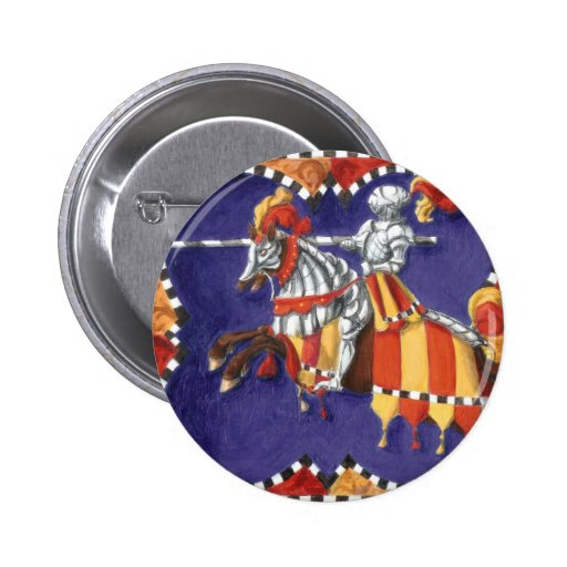 Medieval Knight Jousting Button