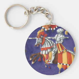 Medieval Knight Jousting Keychain