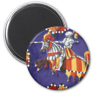 Medieval Knight Jousting Magnet