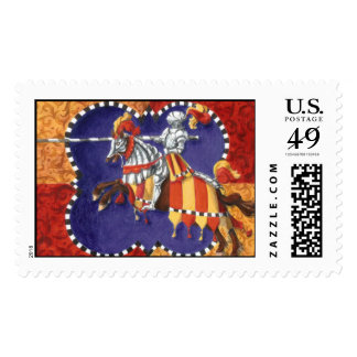 Medieval Knight Jousting Postage Stamps