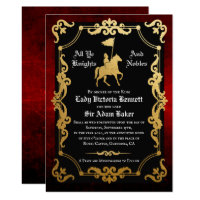 Medieval Knight Jousting Wedding Invitation