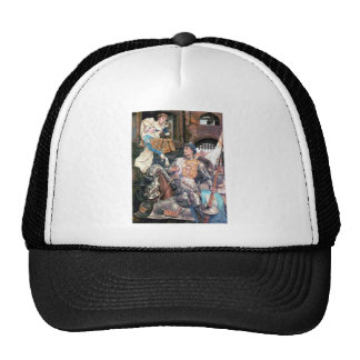 Medieval knight lady sign if love trucker hat