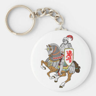 medieval knight on a horse keychain