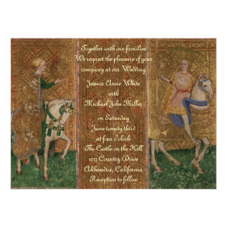 Medieval Knight Renaissance Fantasy Wedding Personalized Announcements