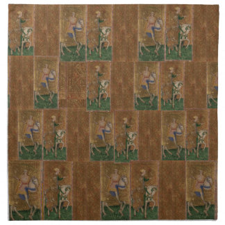 Medieval Knight Renaissance Historical Fantasy Cloth Napkin