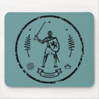 Medieval Knight Round Stamp - Mousepad
