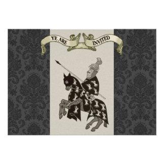 Medieval Knight Wedding Invitations
