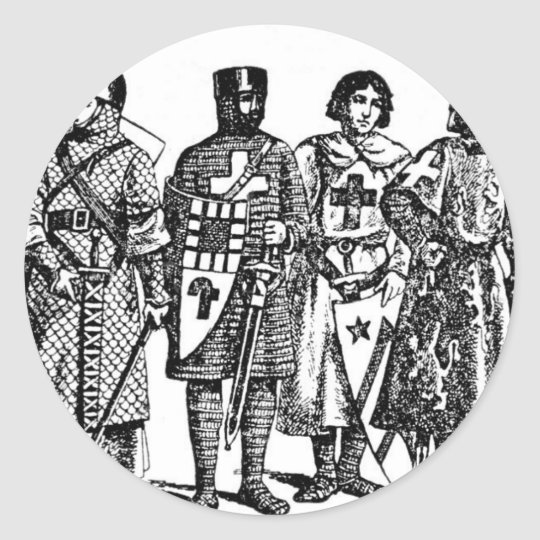 Medieval Knights Classic Round Sticker