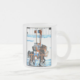 Medieval Knights Frosted Glass Mug