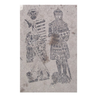 Medieval Knights Graffiti Stationery