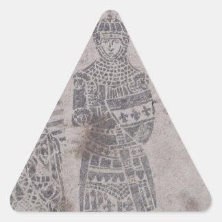 Medieval Knights Graffiti Triangle Sticker
